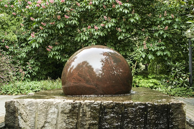 Free fountain decorative fountains stone ball water