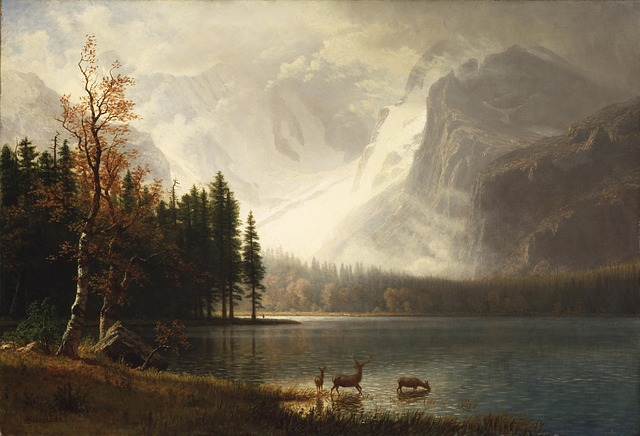 Free Photos: Albert bierstadt painting art oil on canvas | David Mark