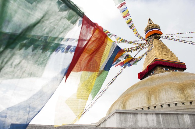 Free buddha buddhism stupa colors sky flag