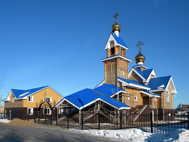Free                russia church building spire tower