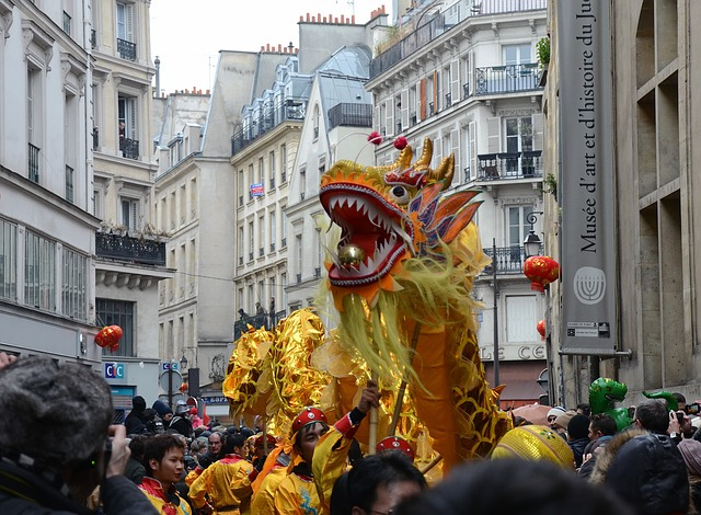 Free paris france chinese new year people celebration