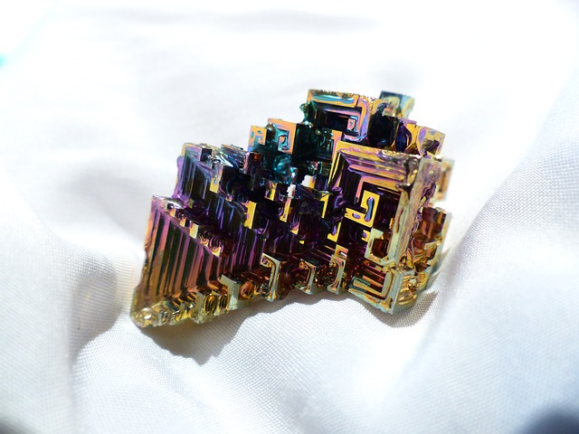 Free glazed includes mineral iridescent bismuth