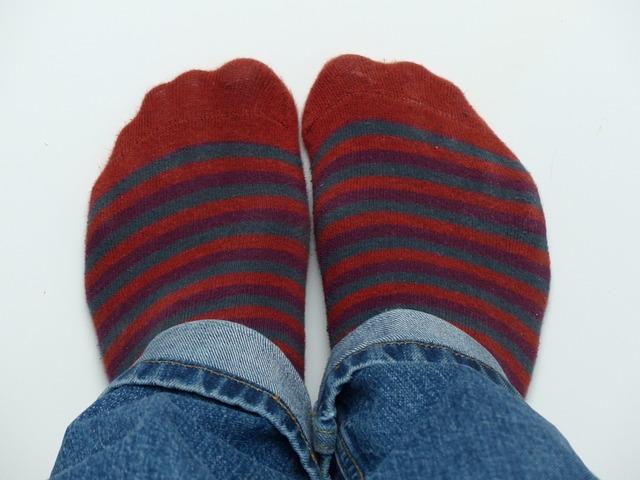 Free socks stockings red ringed pants feet jeans