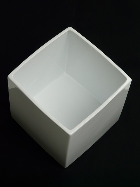 Free plant rack flowerpot ceramic block white
