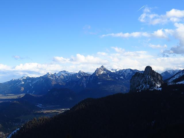 Free alpine alpine panorama tegelberg allgäu
