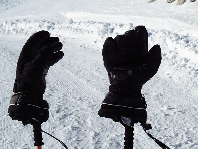 Free gloves cold warming black snow