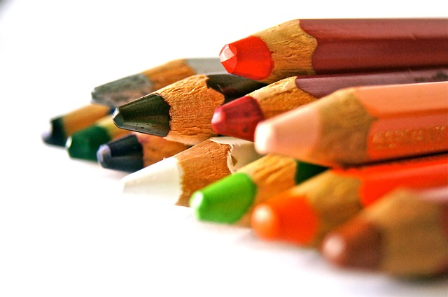 Free pens colored pencils school training abc leave