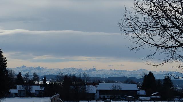 Free allgäu winter snow panorama hair dryer breitenberg
