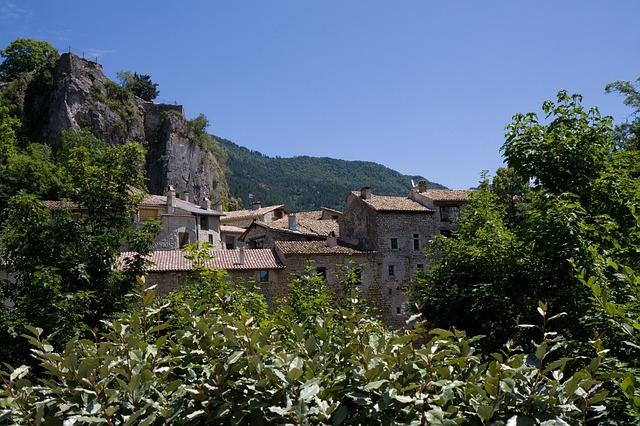 Free france chatillon-en-diois village buildings stone
