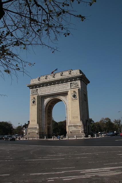 Free arch triumph bucharest romania architecture