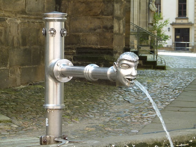 Free pirna germany fountain water spigot pavement