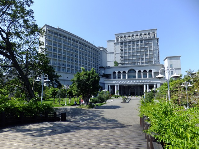 Free new taipei taiwan landscape hospital buildings