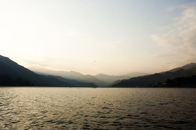 Free lake phewa dawn sunset view sunrise nature calm