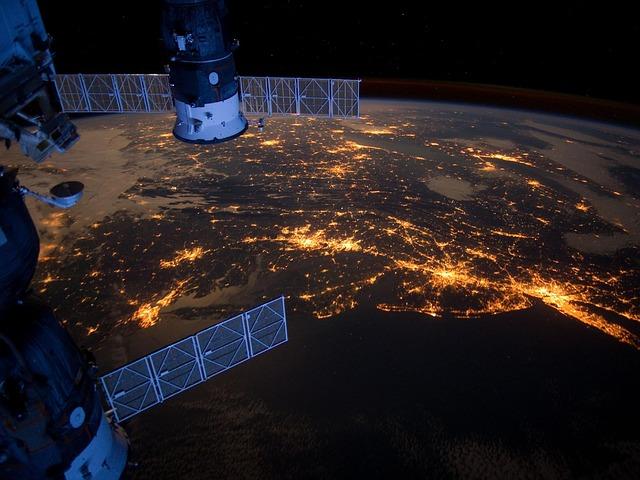 Free united states atlantic coast night evening lights