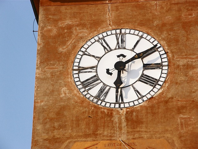 Free time watch timetable clock tower city