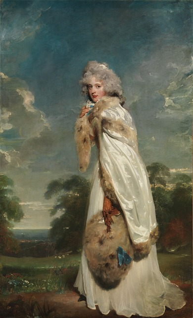 Free thomas lawrence woman female nature outside trees