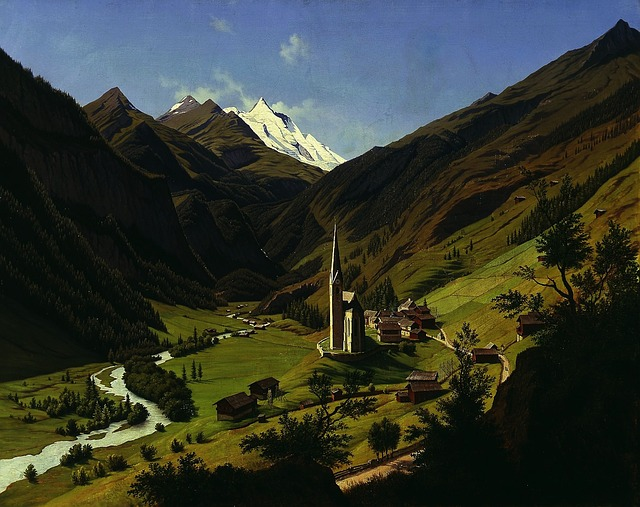 Free hubert sattler landscape painting art artistic