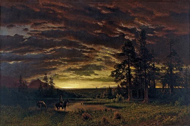 Free albert bierstadt painting art artistic artistry