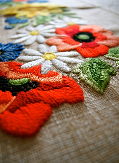 Free fabric yarn blanket flower art craft old design