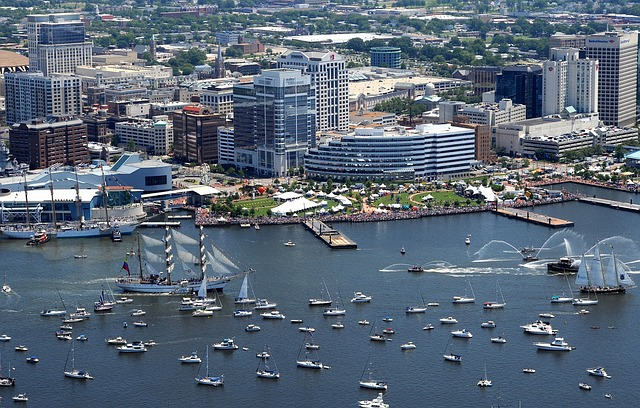 Free norfolk virginia buildings skyline bay harbor