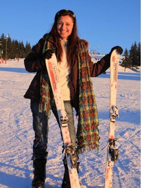 Free Pretty Woman On Ski Resort