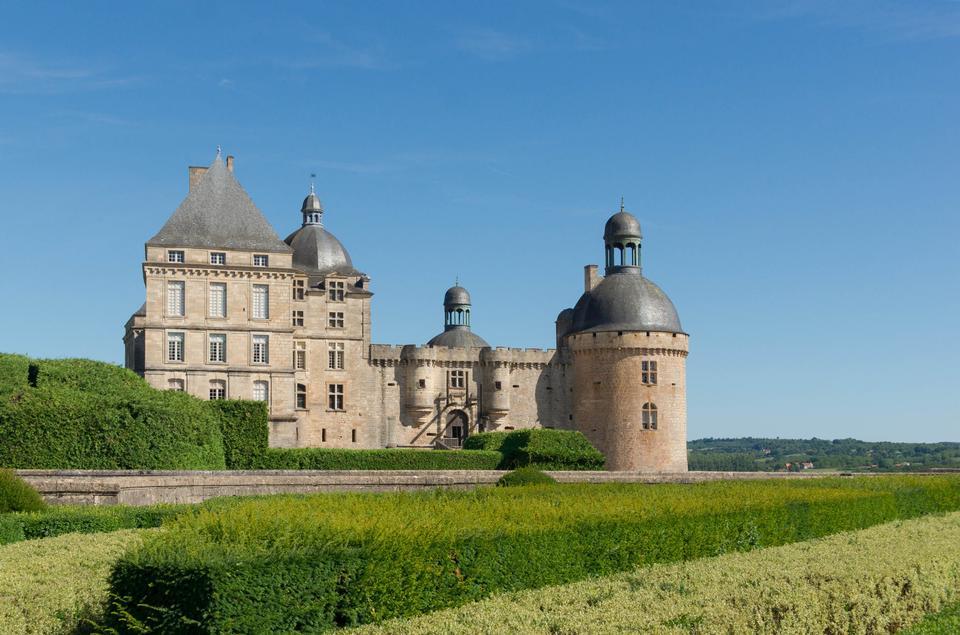 Free Gardens and Chateau de Hautefort, Perigord, France