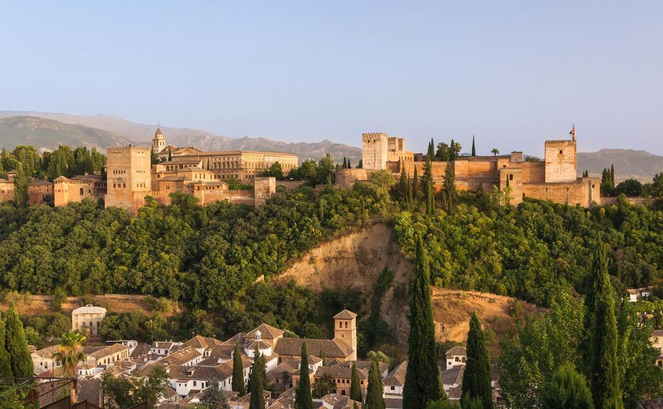 Free Alhambra hill, over Granada, Spain