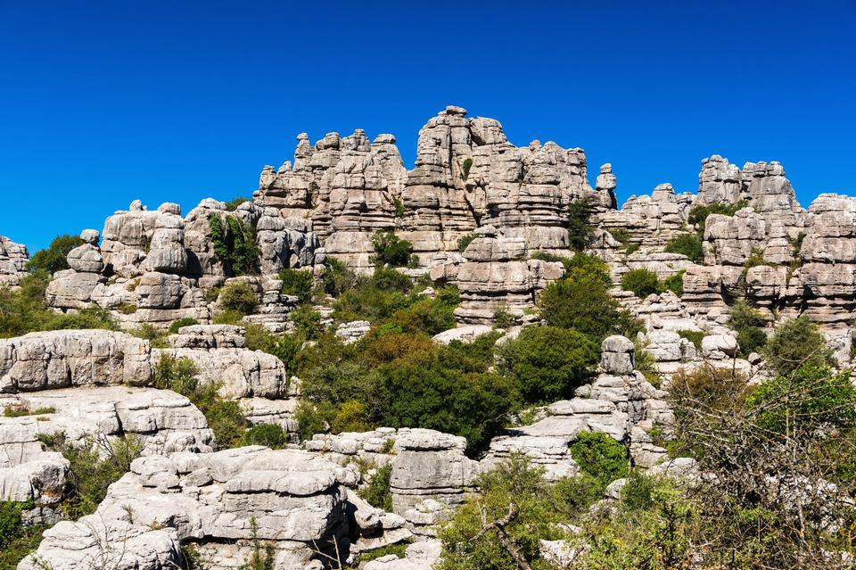 Free Torcal mountain range in southern Spain