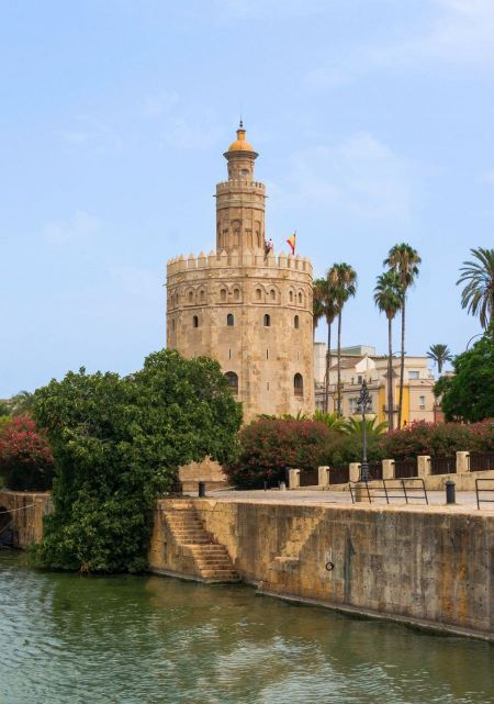 Free Torre del Oro - The Gold Tower in Seville, Andalusia, Spain