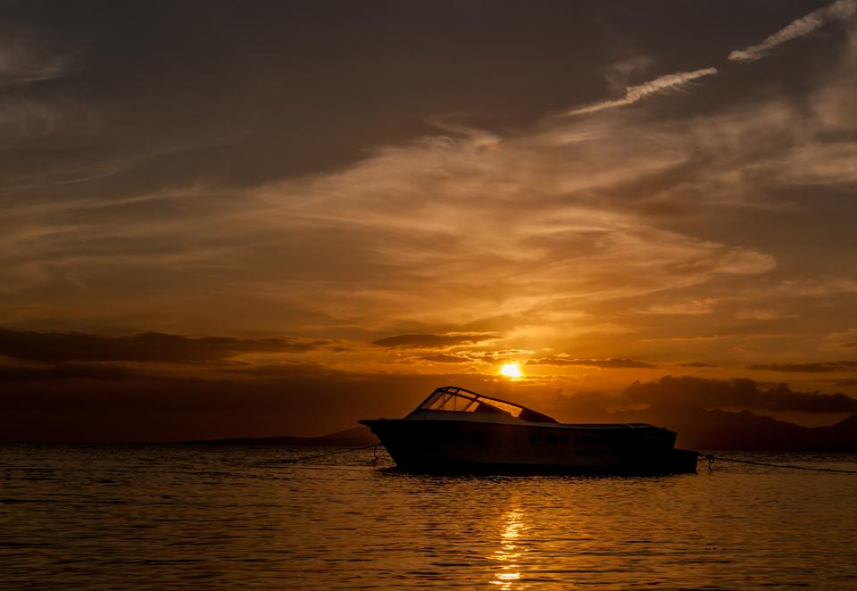 Free Boat in Sunset