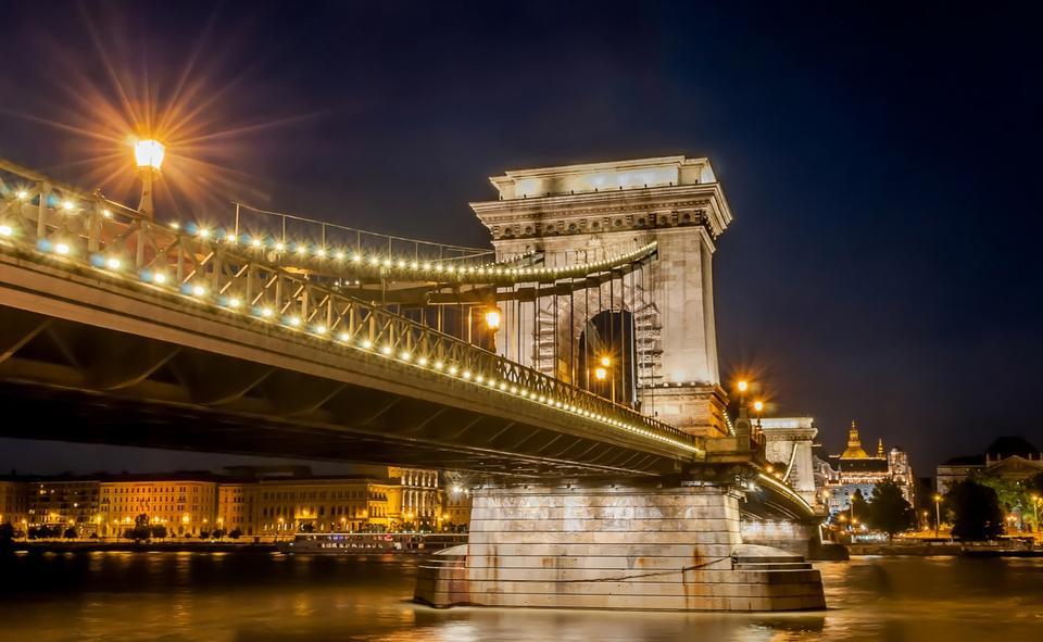 Free Chain Bridge Budapest Hungary