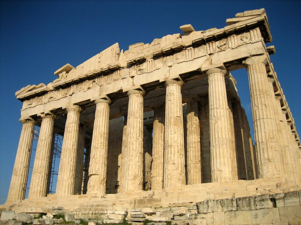 Free Landscape of Parthenon Temple in Athens, Greece