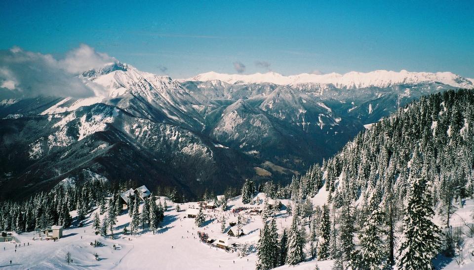 Free Krvavec ski resort, Slovenia