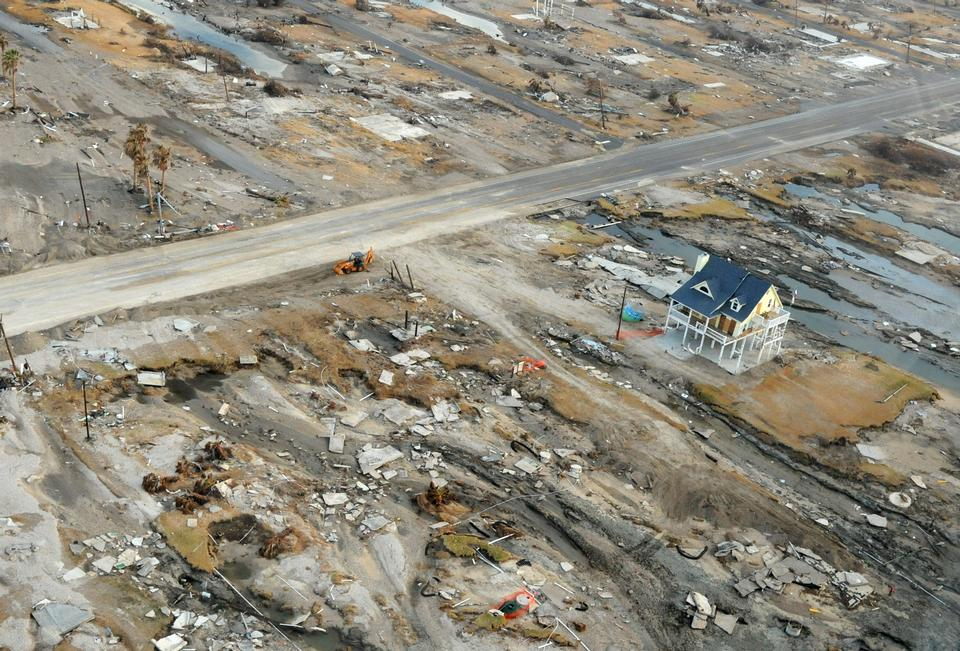 Free An aerial view of the damage Hurricane