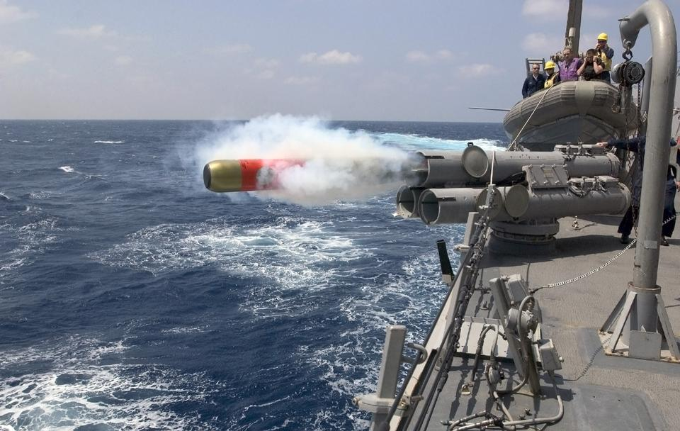 Free A MK-46 exercise torpedo is launched