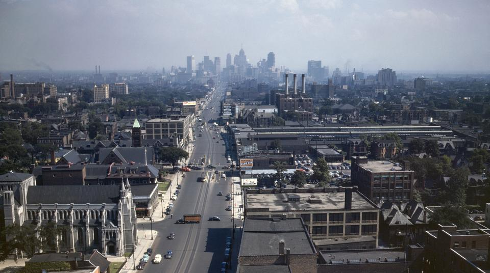 Free Detroit skyline July 1942