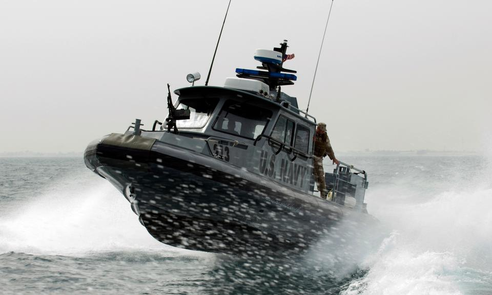 Free A port security boat assigned to Martime Expeditionary Squadron