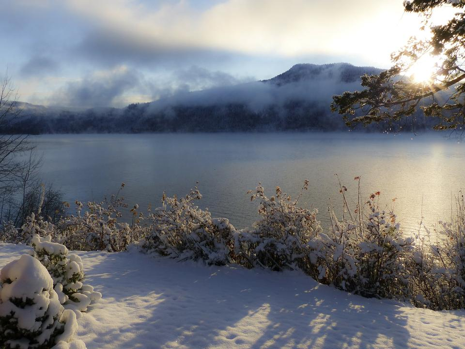 Free Winter Clouds Canim Lake BC Canada