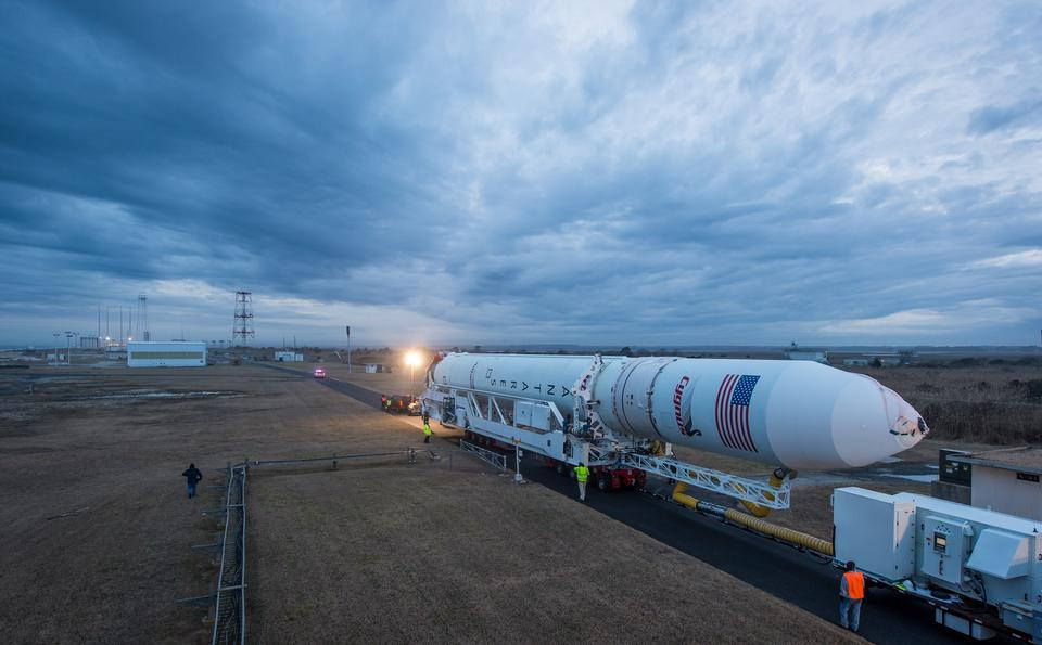 Free Antares Rocket Rolls Out at NASA's Wallops Flight Facility