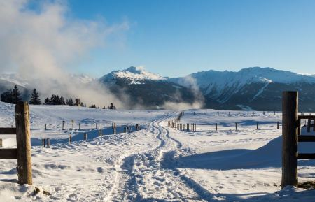 Free Voldertal seen from Walder Alm in winter