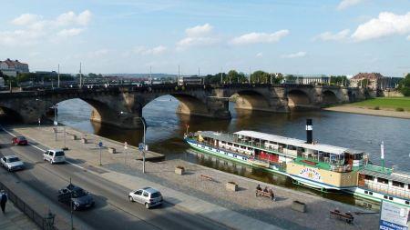 Free Augustus Bridge in Dresden Germany