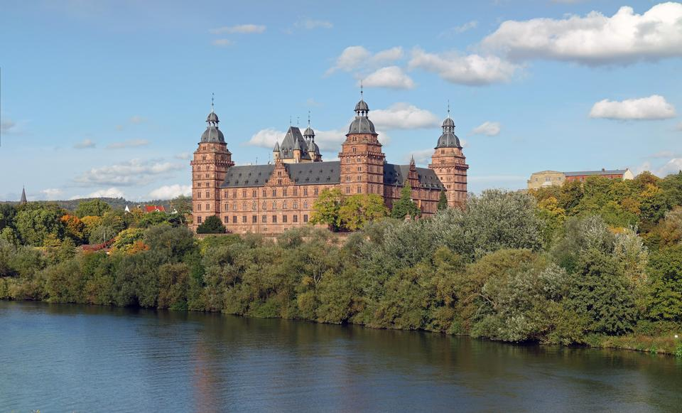 Free Johannisburg palace in Aschaffenburg near Frankfurt, Germany
