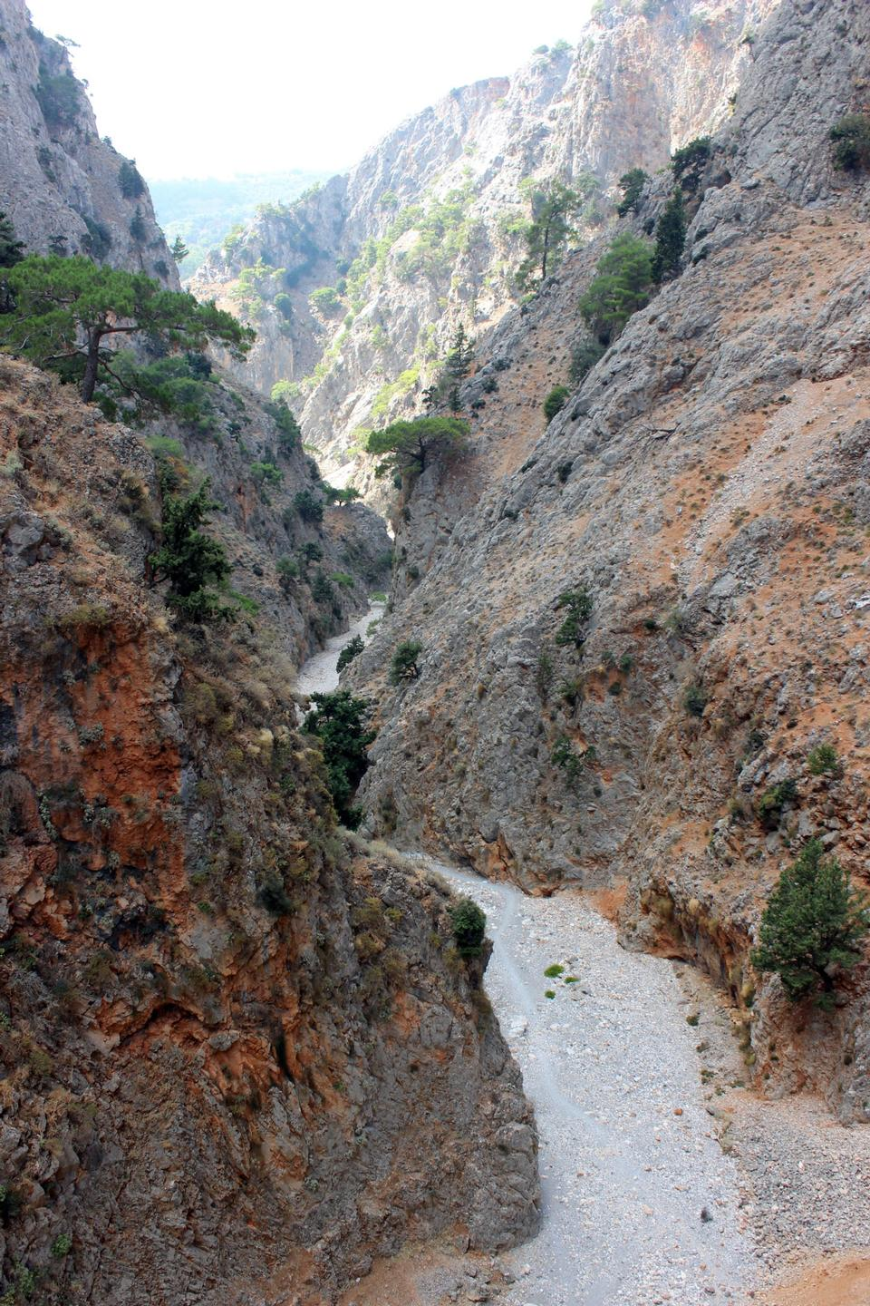 Free Samaria gorge at Crete island in Greece