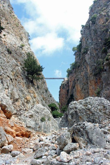 Free Aradena bridge Crete, Greece