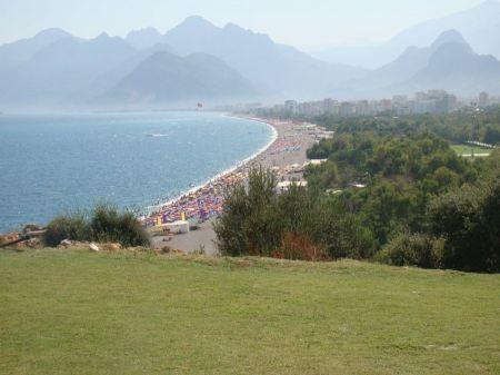 Free Alanya city hill, city coast, view from castle. Turkey