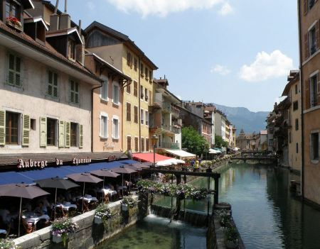 Free City of Annecy in the Alps