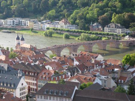 Free Old Bridge in Heidelberg, Germany