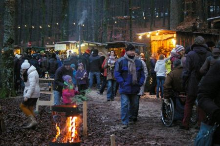 Free market on the shore of Holzöstersee
