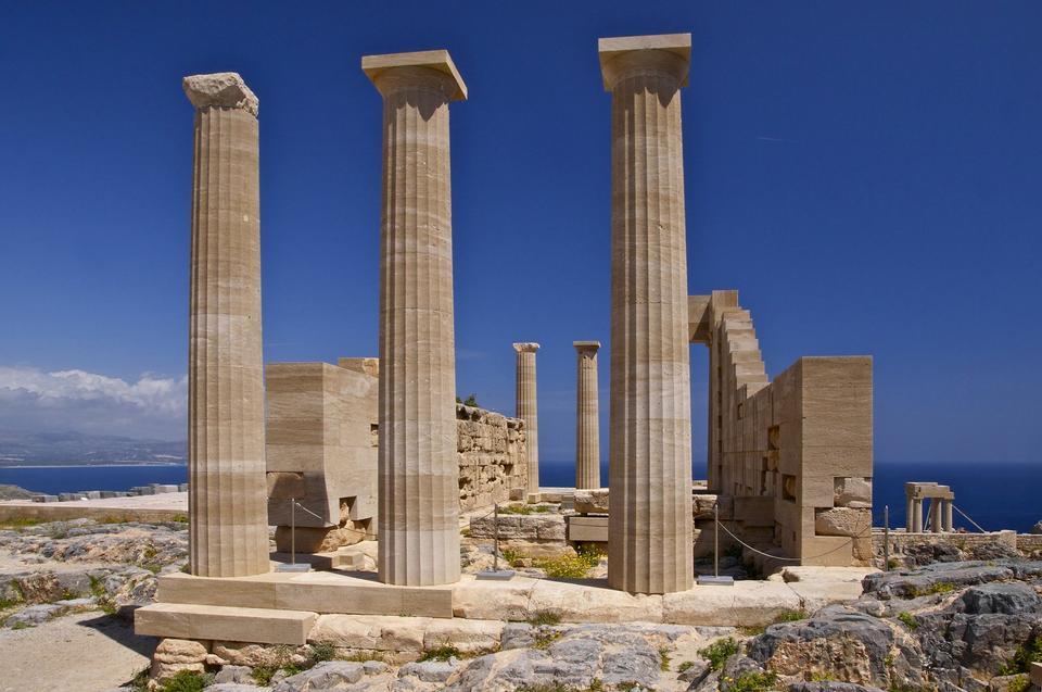 Free Temple of Athena Lindia, Acropolis of Lindos, Island of Rhodes