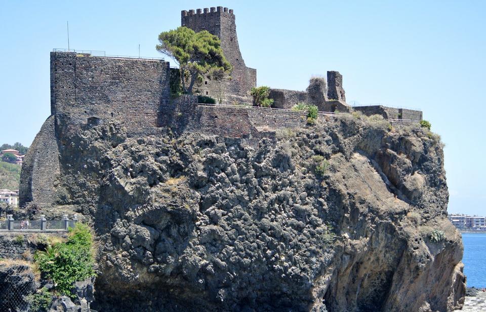 Free Norman castle at Aci Castello, Sicily, Italy